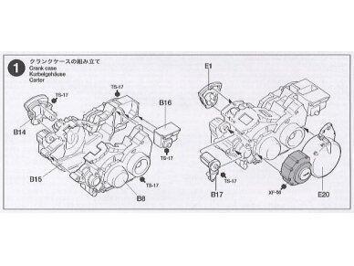 Tamiya - Yamaha XV1600 Roadstar, Mastelis: 1/12, 14080 14