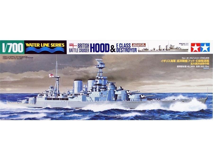 Tamiya 31806 British Battle Cruiser HOOD 1//700 scale kit