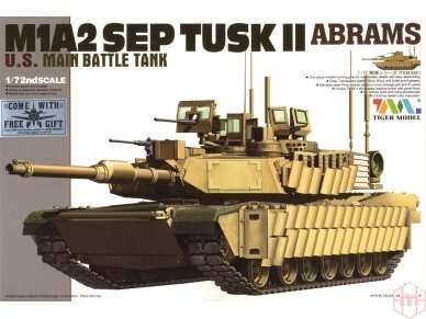 Tiger Model - M1A2 SEP TUSK II Abrams U.S. Main Battle Tank, Scale: 1/72, 09601