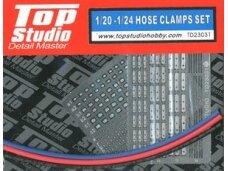 Top Studio - 1/20 - 1/24 Hose Clamps Set TD23031