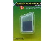 Trumpeter - Twist Drilling Auger Bit set 1. 8pcs. 0,3 to 1,0 mm, 09954