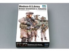 Trumpeter - Modern U.S. Army Armor Crewman & Infantry, Scale: 1/35, 00424