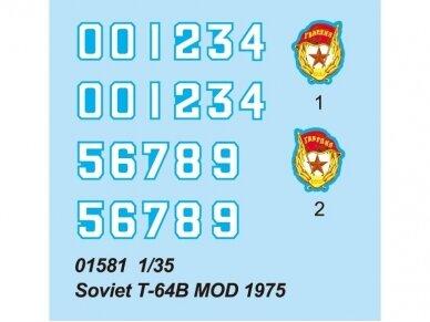 Trumpeter - Soviet T-64B MOD 1975 , Mastelis: 1/35, 01581 3