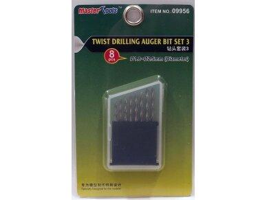 Trumpeter - Twist Drilling Auger Bit set 3. 8pcs. 1,8 to 2,5 mm, 09956