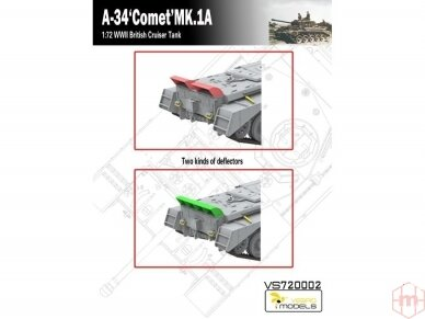 VESPID MODELS - A-34 Comet MK.1A British Cruiser Tank, Scale: 1/72, 720002 3
