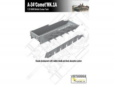 VESPID MODELS - A-34 Comet MK.1A British Cruiser Tank, Scale: 1/72, 720002 4