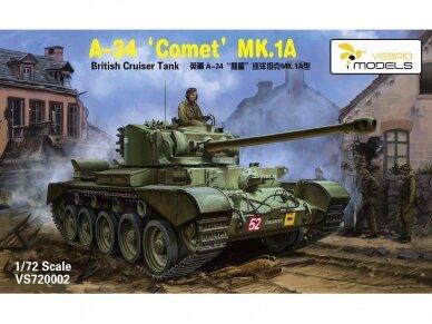 VESPID MODELS - A-34 Comet MK.1A British Cruiser Tank, Scale: 1/72, 720002