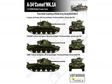 VESPID MODELS - A-34 Comet MK.1A British Cruiser Tank, Scale: 1/72, 720002 7