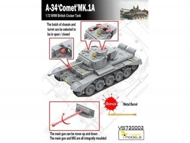 VESPID MODELS - A-34 Comet MK.1A British Cruiser Tank, Scale: 1/72, 720002 2
