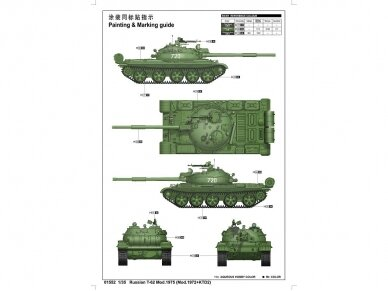 Trumpeter - Russian T-62 Mod.1975, Scale: 1/35, 01552 2