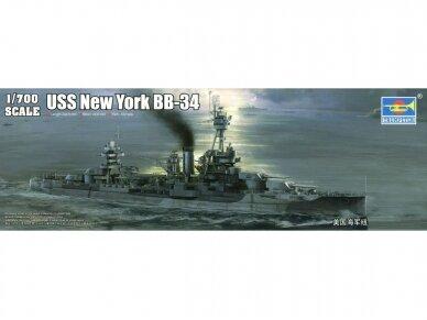 Trumpeter - USS New York BB-34 Battleship, Mastelis: 1/700, 06711