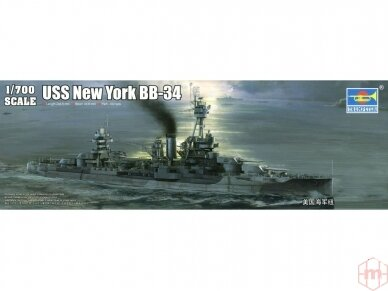 Trumpeter - USS New York BB-34 Battleship, Mastelis: 1/700, 06711