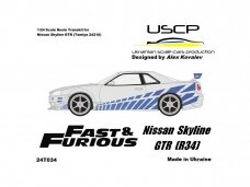 USCP - Nissan Skyline GTR (R34) Fast And Furious 2, Scale: 1/24, 24T034