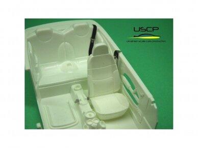 USCP - Road car Seatbelts PE set Black, 1/24, 24A019 3