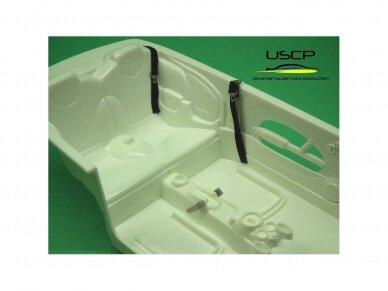USCP - Road car Seatbelts PE set Black, 1/24, 24A019 2