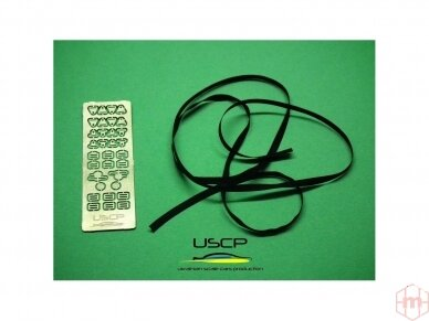 USCP - Racing Seatbelts PE set Black, 1/24, 24A015