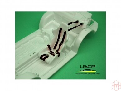 USCP - Racing Seatbelts PE set Black, 1/24, 24A015 2