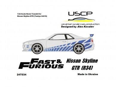 USCP - Nissan Skyline GTR (R34) Fast And Furious 2, 1/24, 24T034