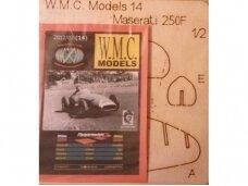 WMC - Maserati 250F iš faneros Lazeriu pjautas rėmas, Mastelis: 1/25, 14-2