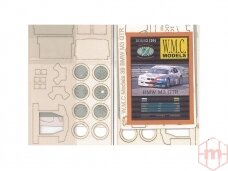 WMC - BMW M3 GTR iš faneros Lazeriu pjautas rėmas, Mastelis: 1/25, 39-1
