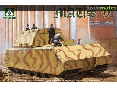 Takom - WWII German Super Heavy Tank Maus V1, Mastelis: 1/35, 2049