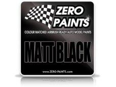 Zero Paints - Matt Black paint, 60ml, ZP-1124