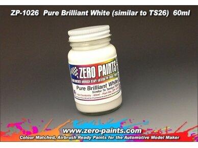 Zero Paints - Balti nitro dažai, 60ml, ZP-1026 2