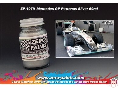Zero Paints - Mercedes GP Petronas Silver, 60ml, ZP-1079