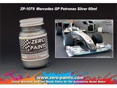 Zero Paints - Mercedes GP Petronas Silver nitro dažai, 60ml, ZP-1079