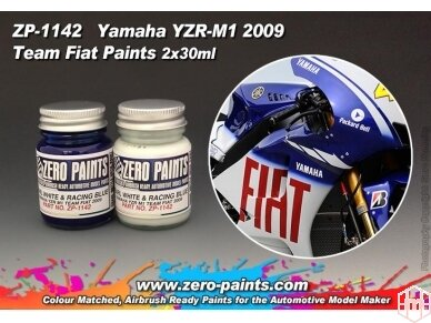 Zero Paints - Yamaha YZR-M1 Team Fiat 2009 nitro dažai, 60ml, ZP-1142