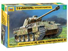 Zvezda - GERMAN MEDIUM TANK PZ. KPFW. V Panther (AUSF. D), Mastelis: 1/35, 3678