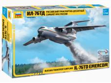 Zvezda - Russian Transport Airplane Il-76TD EMERCOM, Mastelis: 1/144, 7029