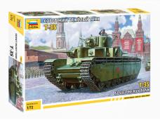 Zvezda - T-35 Soviet Heavy Tank WWII, 1/72, 5061