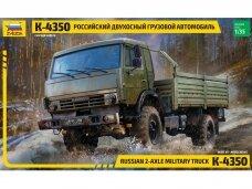 Zvezda - KAMAZ 2-Axle Military Truck K-4350, 1/35, 3692