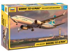 Zvezda - Civil Airliner Boeing 737-8 MAX, 1/144, 7026