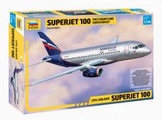 Zvezda - Civil airliner Superjet 100, Mastelis: 1/144, 7009