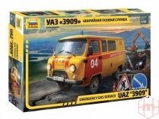 Zvezda - Emergency Gas Service UAZ 3909, 1/43, 43003
