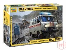 Zvezda - Emergency rescue service UAZ 3909, Mastelis: 1/43, 43002