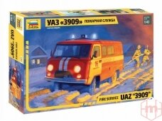 Zvezda - Fire Service UAZ 3909, Mastelis: 1/43, 43001