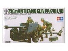 Tamiya - 7,5cm ANTI–TANK GUN (PAK40/L46), 1/35, 35047