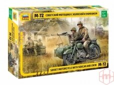 Zvezda - Soviet Motorcycle M-72 with Sidecar and Crew, 1/35, 3639