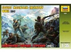 Zvezda - Soviet Mountain Infantry WWII 1942, Scale: 1/35, 3606