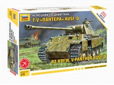 Zvezda - German Medium Tank Pz.Kpfw. V Panther Ausf.D, 1/72, 5010