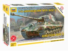 Zvezda - King Tiger with Henschel Turret, Mastelis: 1/72, 5023