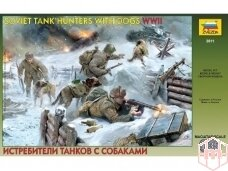 Zvezda - Soviet Tank Hunters with dogs WWII, Mastelis: 1/35, 3611