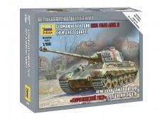 Zvezda - King Tiger Ausf. B, Mastelis: 1/100, 6204