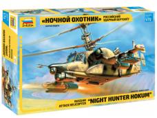 "Zvezda -  Russian attack helicopter KA-50 SH ""Night hunter hokum"", 1/72, 7272"