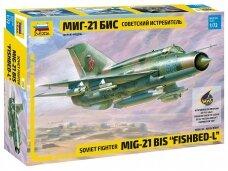 Zvezda - Soviet fighter MiG-21bis Fishbed-L, 1/72, 7259