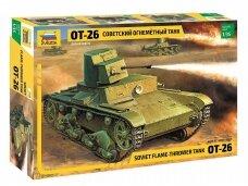 Zvezda - OT-26 Soviet  flame  thrower  tank  WWII, Scale: 1/35, 3540