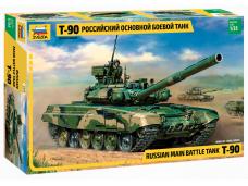 Zvezda - Russian main battle tank T-90, Scale: 1/35, 3573